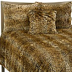 Cheetah Faux Fur Twin Duvet Cover Set