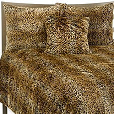 Cheetah Faux Fur Duvet Cover Set