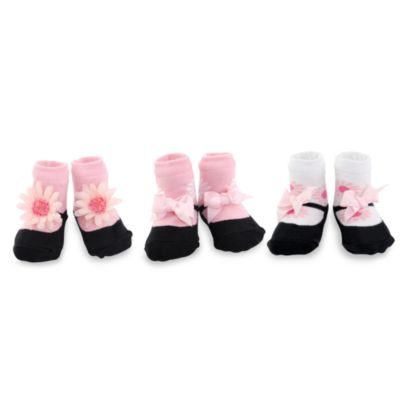 Mud Pie™ Perfectly Princess Flower Size 0 to 12 Months Socks (Set of 3)