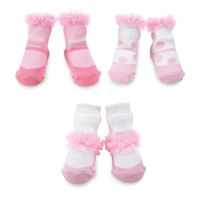 Mud Pie™ Tiny Dancer Chiffon Ruffle Socks (Set of 3) - 0 to 12 Months
