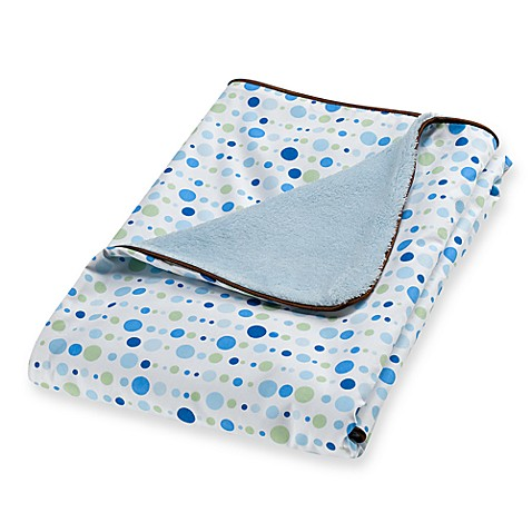 Caden Lane® Classic Collection Blanket in Blue Dot