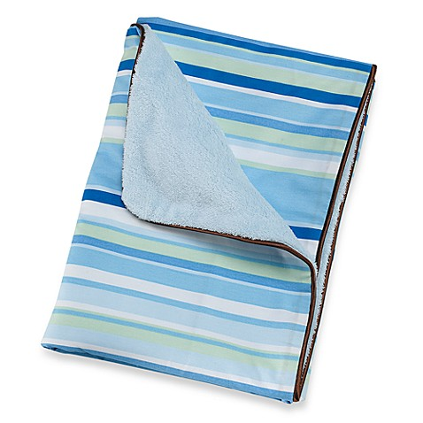 Caden Lane® Classic Collection Blanket in Blue Stripe