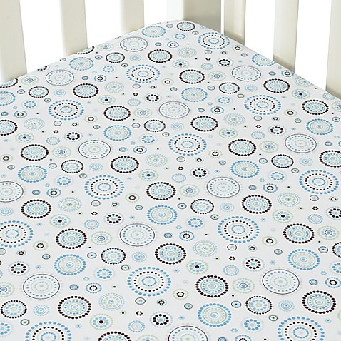 Caden Lane® Classic Collection Crib Sheet in Blue Circle