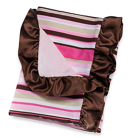 Caden Lane® Classic Collection Blanket in Pink Stripe