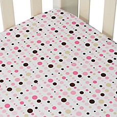Caden Lane® Classic Collection Crib Sheet in Pink Dot