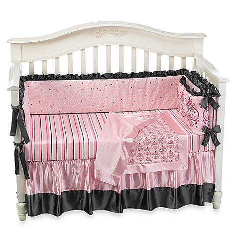 Caden Lane® Luxe Collection Ashlyn 4-Piece Crib Bedding Set