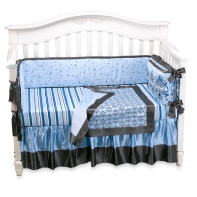 Caden Lane® Luxe Collection Parker 4-Piece Crib Bedding Set