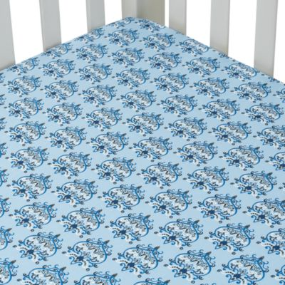 Caden Lane Blue Crib Sheet