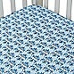 Caden Lane® Luxe Crib Sheet in Blue Damask