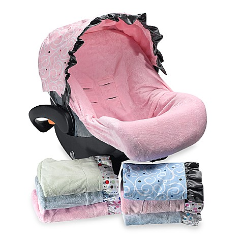 Caden Lane Car Seat Cover - Pink Dot