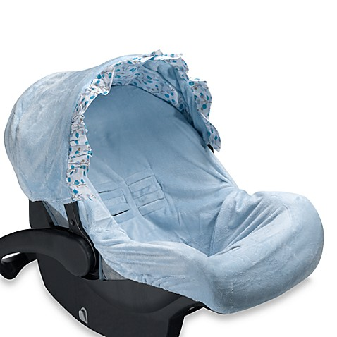 Caden Lane Car Seat Cover - Blue Dot