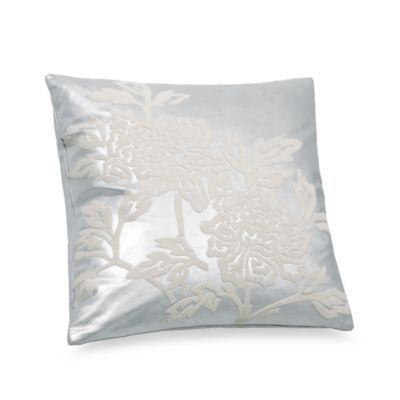 Snow Leopard Silver 20-Inch x 20-Inch Square Toss Pillow