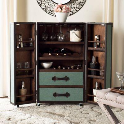 Safavieh Grayson Bar Cabinet in Sage