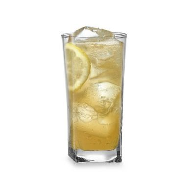 Red Series Square Highball Glasses (Set of 4)