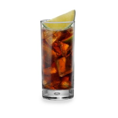 Red Series Bubble 17-Ounce Highball Glasses (Set of 4)