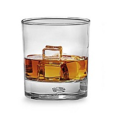 Red Series Bubble 10-Ounce Double Old Fashioned Glasses (Set of 4)