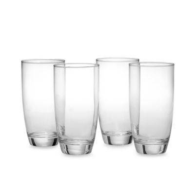 Red Series Round 16-Ounce Highball Glasses (Set of 4)