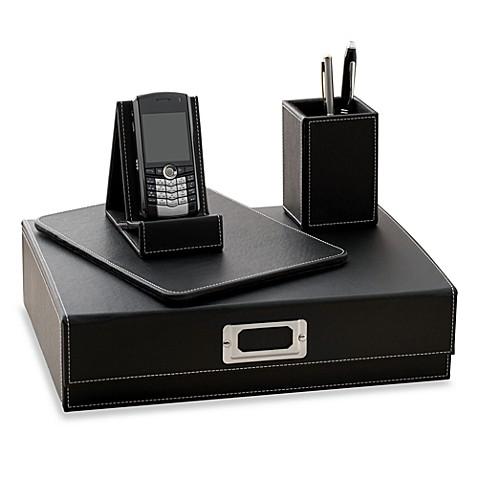 4 piece desk organizer set bed bath beyond - Desk set organizer ...