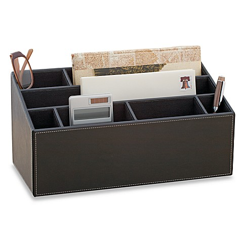 Desk organizer bed bath beyond - Faux leather desk organizer ...