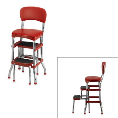 Cosco® Retro Chair/Step Stool in Red