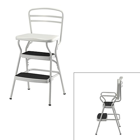 Cosco® White Chair/Step Stool