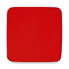 "Waechtersbach Red Ceramic 8 1/4"" Large Small Square Plate (Set of 2)"