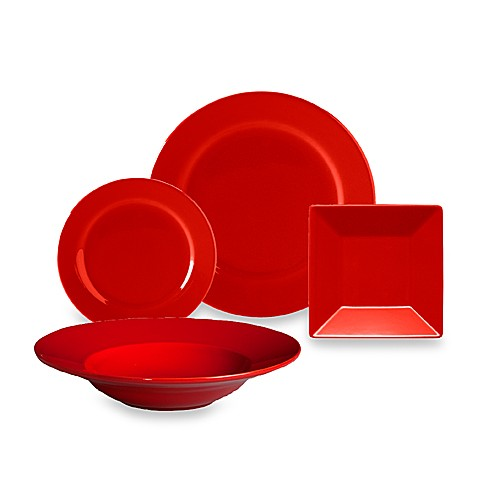 Waechtersbach Red Rimmed Ceramic Dinnerware
