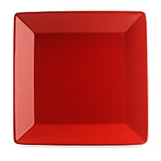 Waechtersbach Red Ceramic Rimmed 10-Inch Square Plates (Set of 2)
