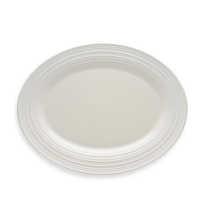 Mikasa® Swirl 14-Inch Oval Platter in White