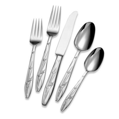 5-Piece Red Flatware Set