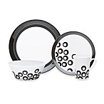 Mikasa Circle Chic Black 4-Piece Dinnerware Place Setting