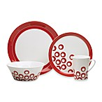 Mikasa Circle Chic Red 4-Piece Dinnerware Place Setting