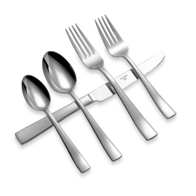 Michael Lloyd Serene 45-Piece Stainless Steel Flatware Set