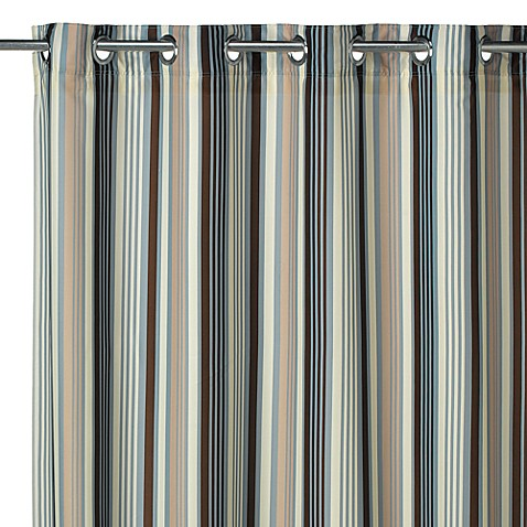Hookless Cape May Fabric Shower Curtain And Liner Bed