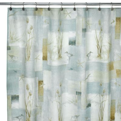 Blue Waters 70-Inch x 72-Inch Fabric Shower Curtain