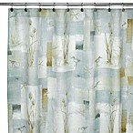 Avanti Blue Waters 70-Inch x 72-Inch Fabric Shower Curtain