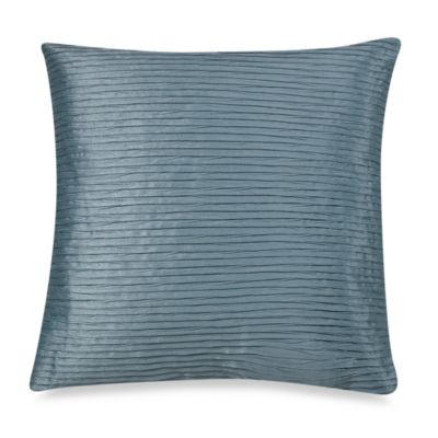 Julia Pleat Square Toss Pillow in Blue