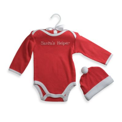 "babyGEAR™ Size 6M ""Santa's Helper"" Bodysuit with Cap"