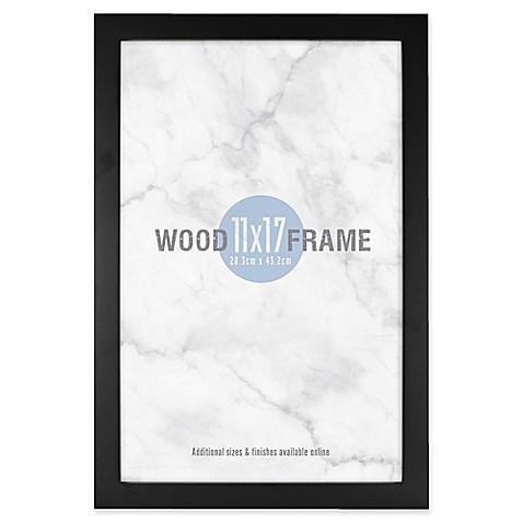 Gallery 11-Inch x 17-Inch Wood Frame in Black