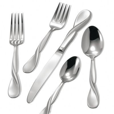 Satin Aquarius 20-Piece Flatware Set