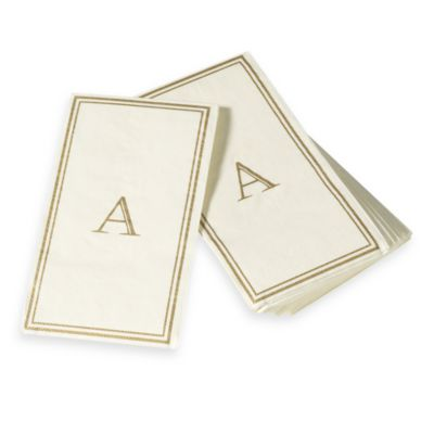 "Monogram Disposable Letter ""A"" Guest Towels"
