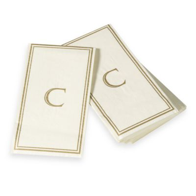 "Monogram Disposable Letter ""C"" Guest Towels"