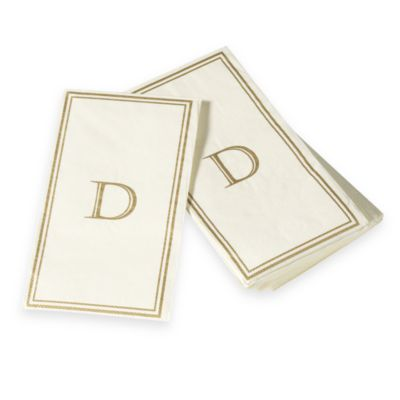 "Monogram Disposable Letter ""D"" Guest Towels"
