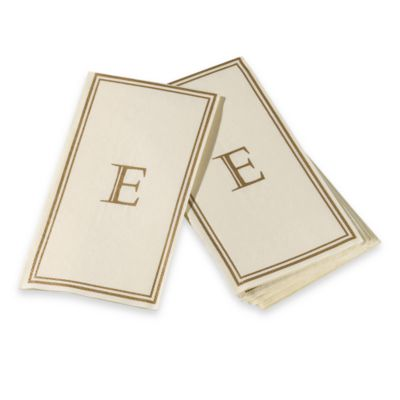 "Monogram Disposable Letter ""E"" Guest Towels"