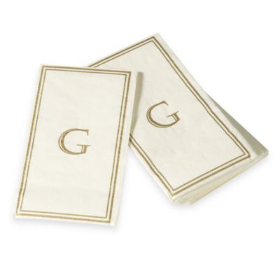 "Monogram Disposable Letter ""G"" Guest Towels"