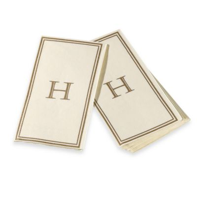 "Monogram Disposable Letter ""H"" Guest Towels"