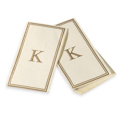 "Monogram Disposable Letter ""K""Guest Towels"