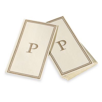 "Monogram Disposable Letter ""P"" Guest Towels"