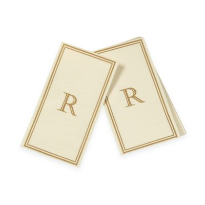 "Monogram Disposable Letter ""R"" Guest Towels"