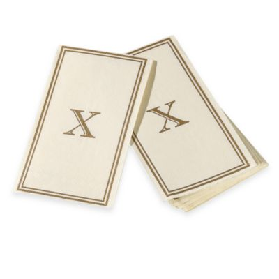 "Monogram Disposable Letter ""X"" Guest Towels"